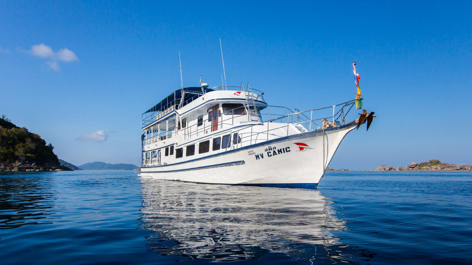 Liveaboard MV Camic with 24 dives at Koh Similan, Richelieu rock, Koh Tachai, and Koh Bon