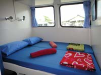 Double bed cabin at the MV Oktavia