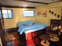 master cabin with ensuite bathroom on the MV Oktavia