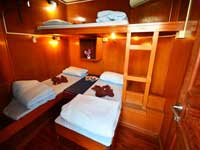 4 bed shared cabin on the MV Manta Queen 3 liveaboard