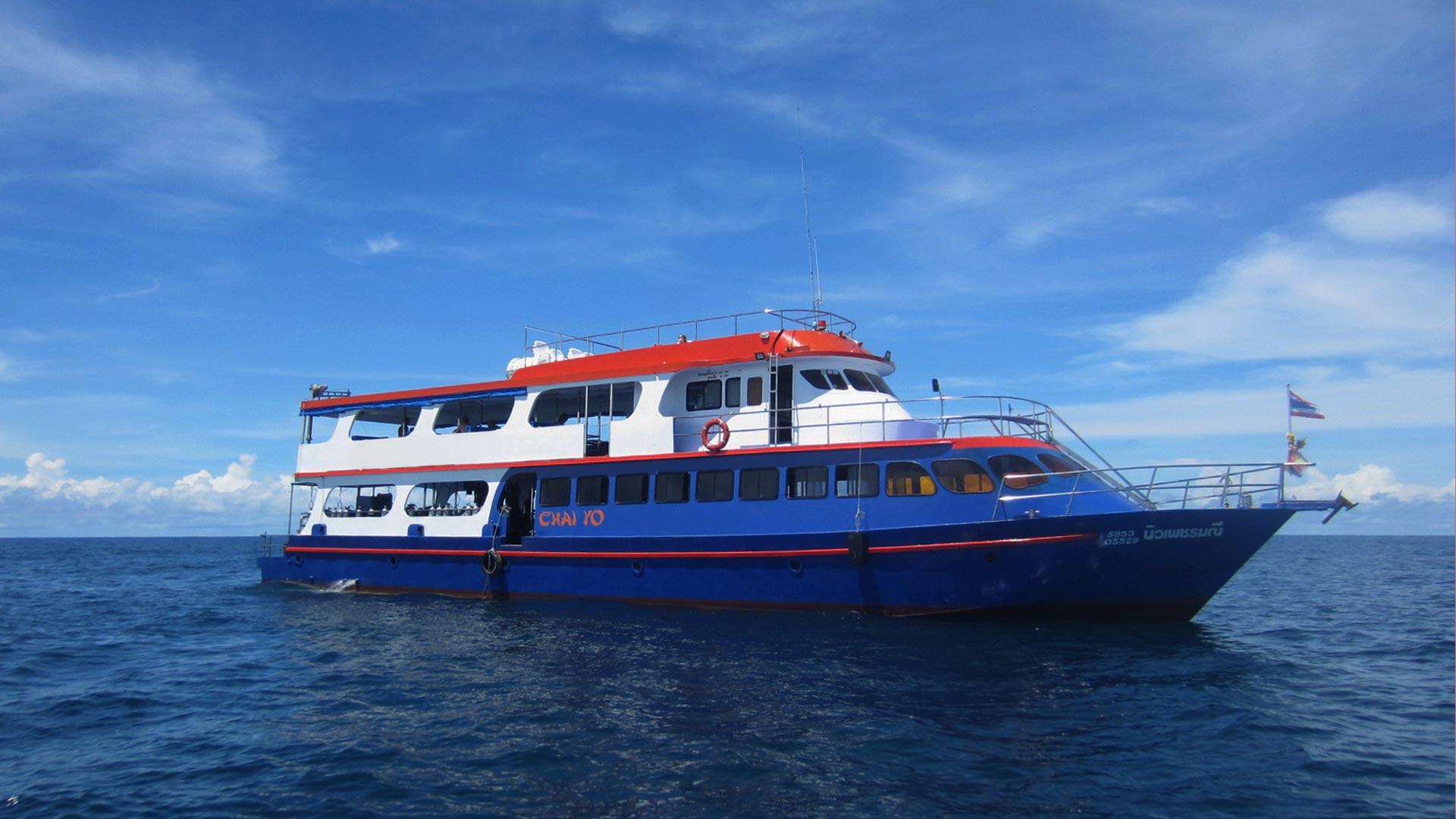 Daytrip diving boat MV Chay Yo to Koh Bon and Koh Tachai