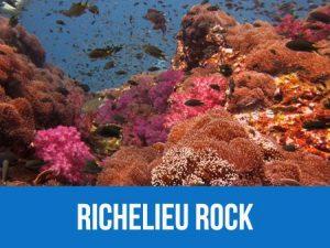 Richelieu rock dive site information and dive map