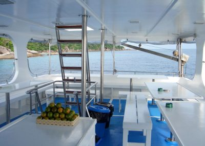 Dining deck on the Manta queen 1 l;iveaboard