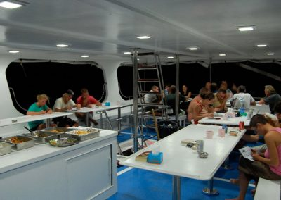 Evening dinner on the Manta Queen 1
