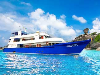 Overview of all four days Thaialnd scuba liveaboard tours