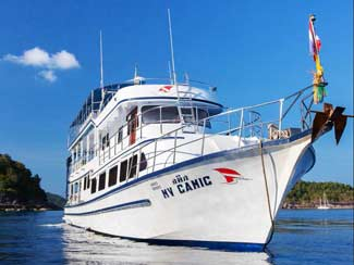 Overview of the two days Thailand scuba liveaboard trips