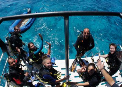 On it is great fun on the dive deck at the Similan islands liveaboard MV Camic