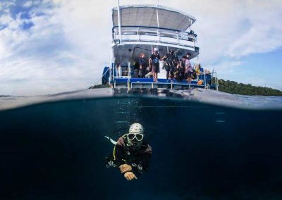 Diving at the Similan islands national park with the MV Camic