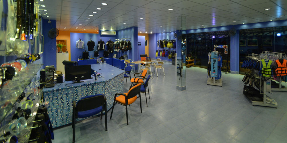 Mares diving and snorkeling equipment shop in Khao Lak