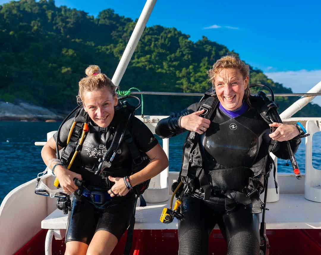 Just happy faces after the dive